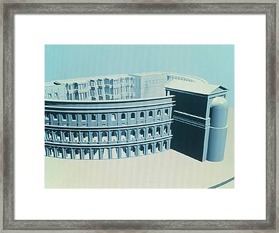 Virtual Reality Model Of The Theatre Of Pompey Framed Print by Theatronvolker Steger