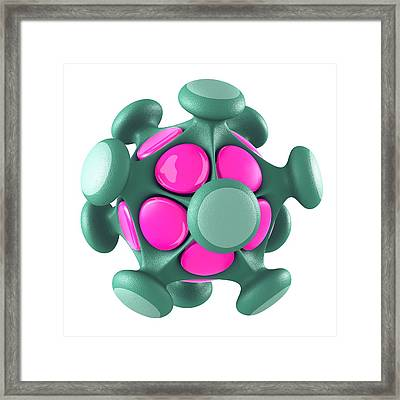 Virus Particle, Conceptual Image Framed Print by Laguna Design