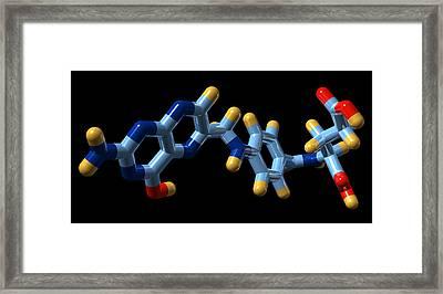 Vitamin B9, Molecular Model Framed Print