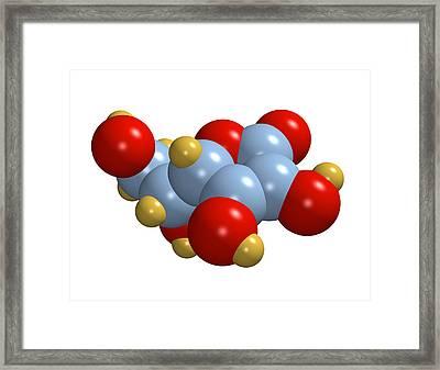 Vitamin C Molecule Framed Print