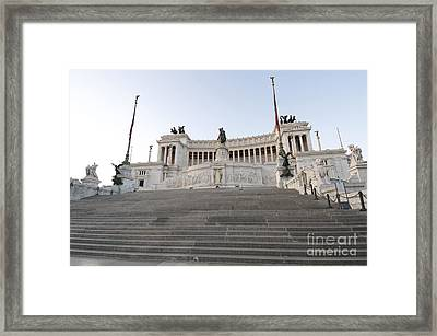 Vittoriano Monument To Victor Emmanuel II. Rome Framed Print