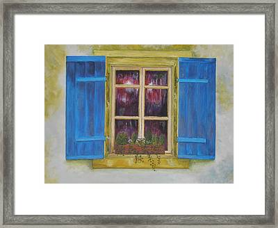 Viva Le Bleu Framed Print by Siobhan Lawson