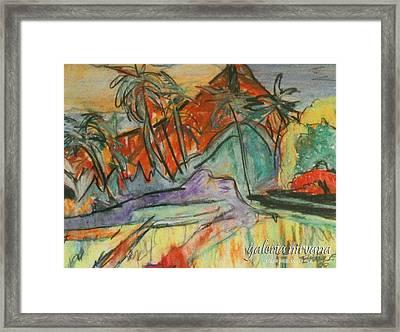 Volcan Rojo 98 Framed Print by Bradley Bishko