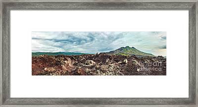Volcano Batur Framed Print by MotHaiBaPhoto Prints