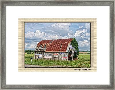 Framed Print featuring the photograph Vote For Me I by Debbie Portwood