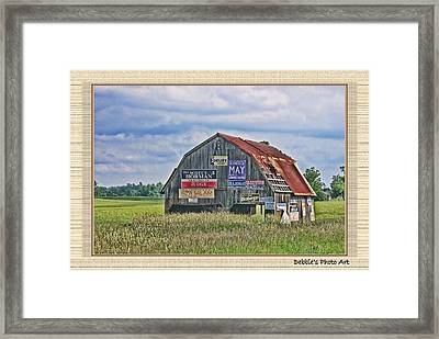 Framed Print featuring the photograph Vote For Me II by Debbie Portwood