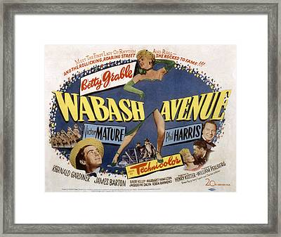 Wabash Avenue, Betty Grable, 1950 Framed Print by Everett