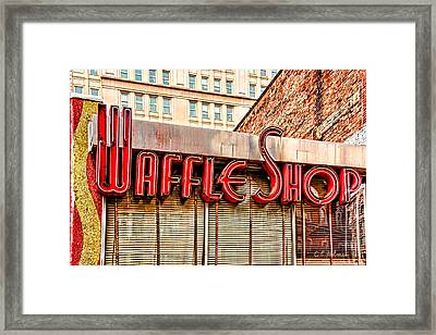 Waffle Shop Framed Print by Christopher Holmes