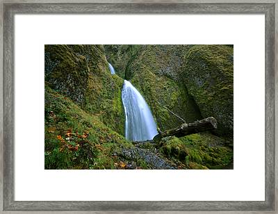 Wahkeena Falls 02 Framed Print