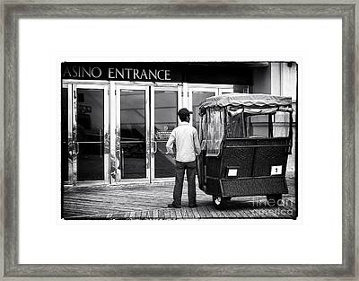 Waiting For A Rider Framed Print