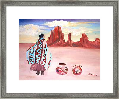 Waiting For Friends Framed Print by Alanna Hug-McAnnally