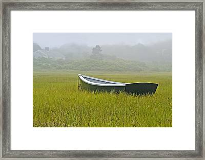 Waiting For The Tide Framed Print by Gordon Ripley