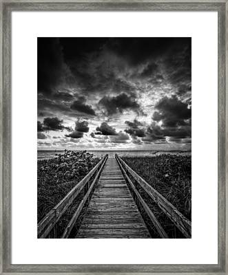 Walkway To Tomorrow Framed Print by Nick  Shirghio