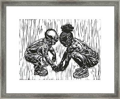 Wanna Play Framed Print by Sabrina McGowens