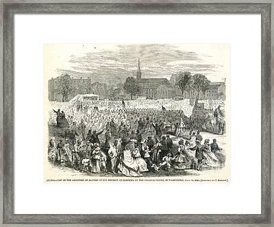 Washington: Abolition, 1866 Framed Print