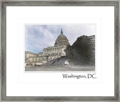 Washington Dc Capitol Hill Building Framed Print by Brandon Bourdages