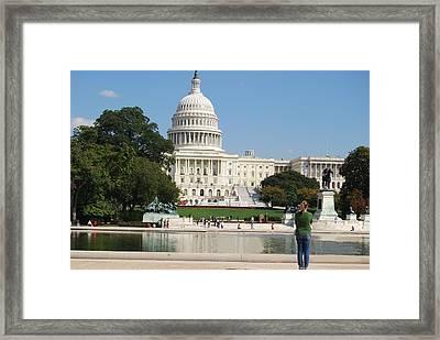 Washington Dc Capitol  Framed Print by Lissandra Melo