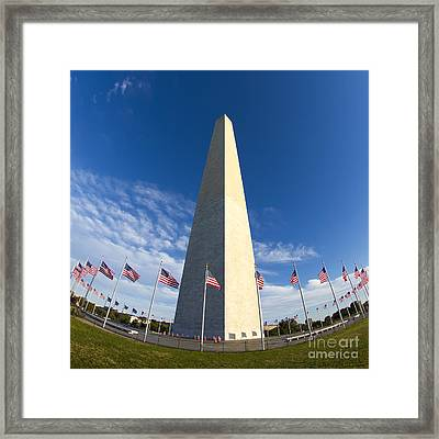 Washington Monument Framed Print by Dustin K Ryan