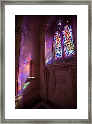 Washingtons National Cathedral Stained Framed Print by Richard Nowitz