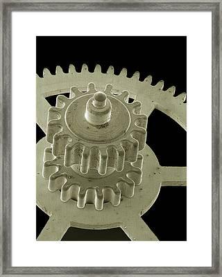 Watch Gears, Sem Framed Print by Steve Gschmeissner
