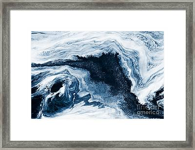 Water Abstraction Framed Print by Iryna Shpulak