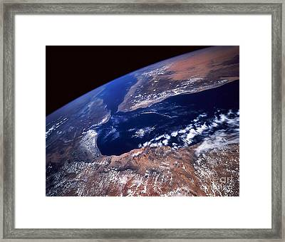Water And Land Framed Print by Stocktrek Images