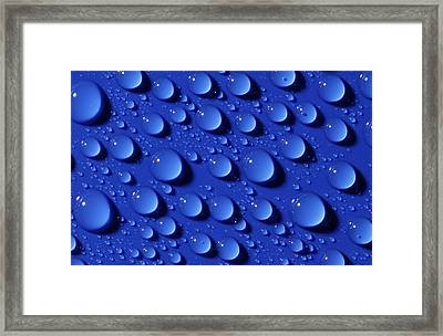 Water Droplets Framed Print by Courtesy Of Crown Copyright Fera