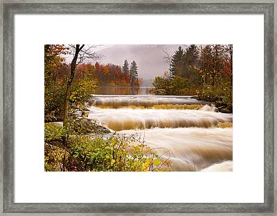 Water Fall At Lefferts Pond Framed Print by Gordon Ripley