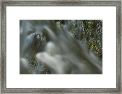 Water Movement Detail 15 Framed Print by Stephen  Vecchiotti