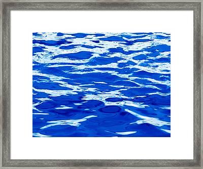 Blue Water Framed Print by Skip Nall