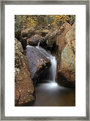 Waterfall In Acadia National Park Framed Print by Juergen Roth