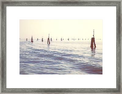 Waterway In The Lagoon Of Venice Framed Print by Joana Kruse