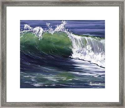 Wave 8 Framed Print by Lisa Reinhardt