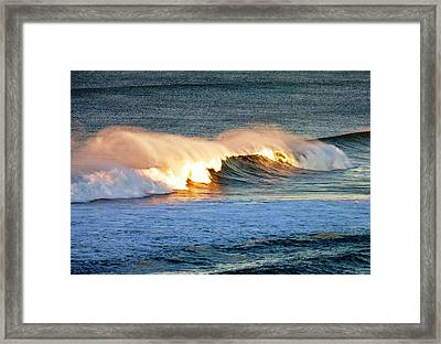 Wave At Sunrise Framed Print