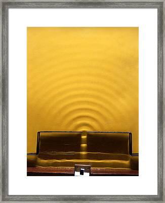 Wave Diffraction Experiment Framed Print
