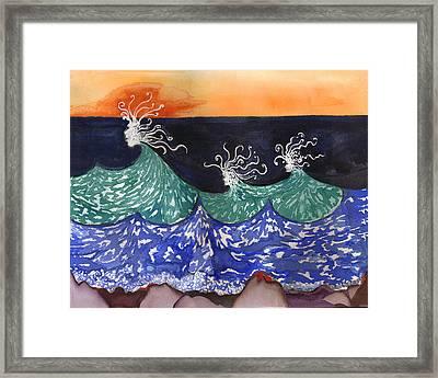 Wave Fairies Framed Print by Alexandra  Sanders