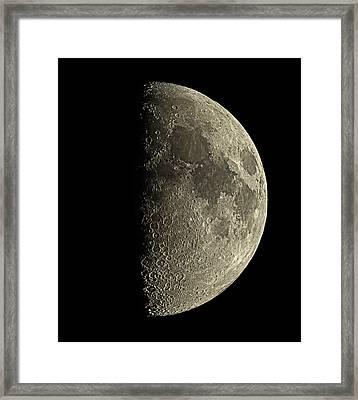 Waxing Half Moon Framed Print