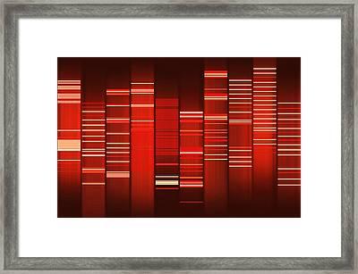 Website Source Code Visualisation Framed Print