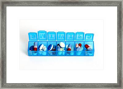 Weekly Pill Box Framed Print by Photo Researchers, Inc.