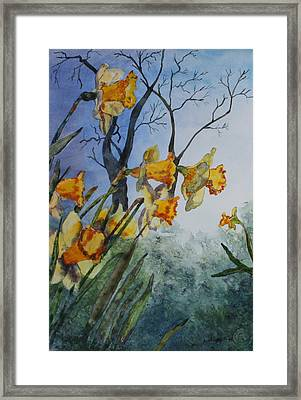Framed Print featuring the painting Welcome Springtime by Patsy Sharpe