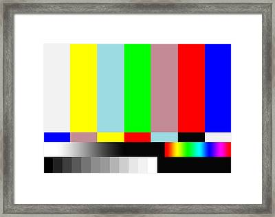 Welcome To Hd Tv Land Framed Print by Saad Hasnain