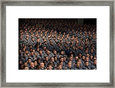 West Point Cadets Applaud President Framed Print by Everett