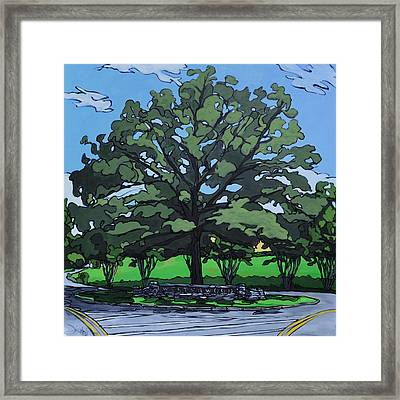 Framed Print featuring the painting Westerwood Tree by John Gibbs