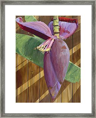 Framed Print featuring the painting Wet by AnnaJo Vahle