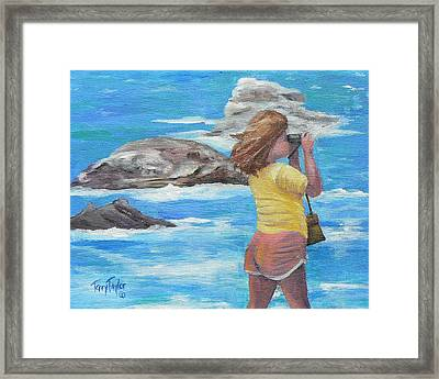 Framed Print featuring the painting What's Out There by Terry Taylor