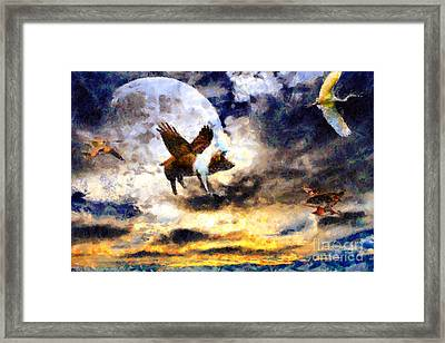 When Pigs Fly Framed Print by Wingsdomain Art and Photography