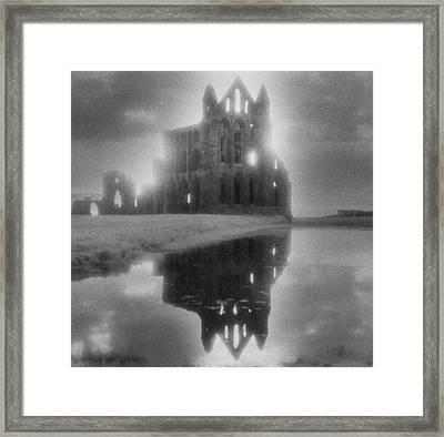 Whitby Abbey Framed Print by Simon Marsden