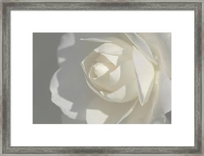 White Framed Print by Meeli Sonn