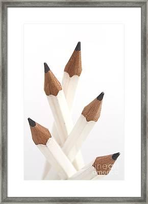 White Pencils Framed Print by Blink Images