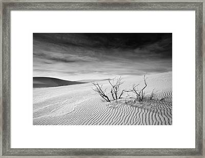 Framed Print featuring the photograph White Sands by Mike Irwin